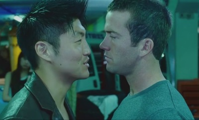 brian tee lucas black - gay kiss or fight2