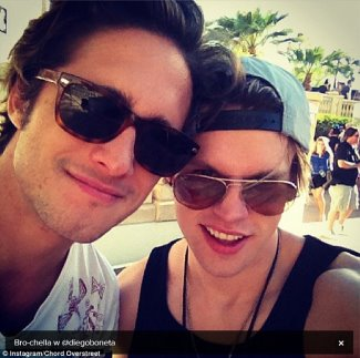 diego boneta gay or straight - brochella with chord overstreet - 2013 coachella