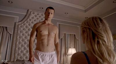glenn powell underwear boxer shorts in scream queens