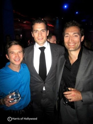 henry cavill with corey spears - man of steel premiere