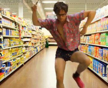 matthew gray gubler underwear as outerwear - grocery store