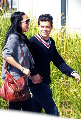 rami malek girlfriend - asian girl