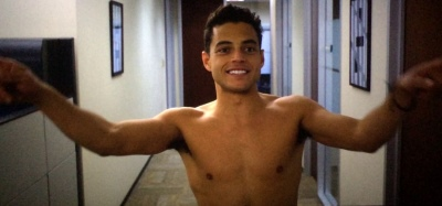 rami malek shirtless - need for speed2