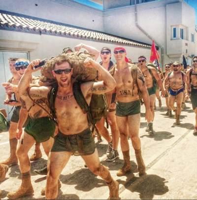 real hot marines in silkies underwear