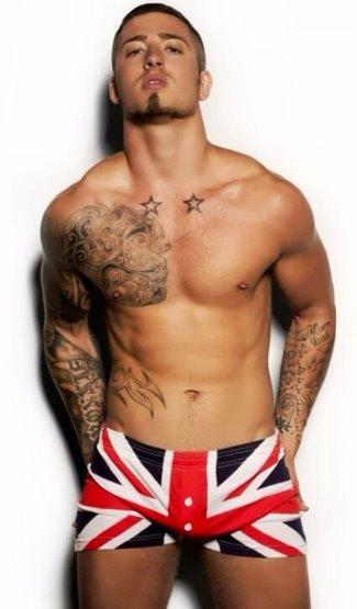 union jack underwear for men - ronnie braithwait - male model