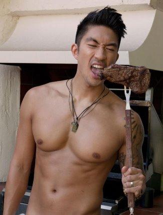 ronnie woo shirtless chef
