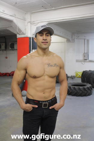 Joe Naufahu underwear peekabo