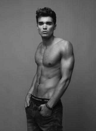 Josh Cuthbert boxers or briefs underwear - dolce gabbana - model