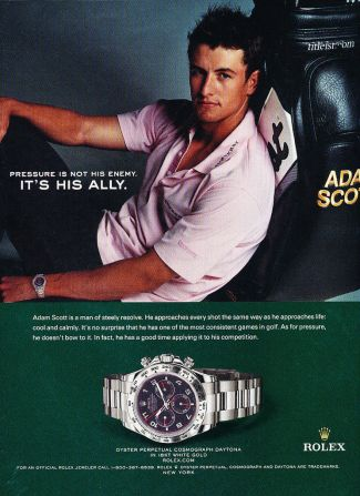 adam scott rolex watch - daytona