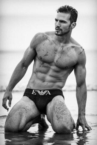 best emporio armani male underwear models - adam cowie