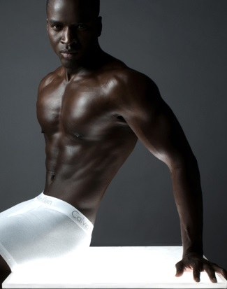 black male calvin klein underwear model - by Robert Voltaire Studio
