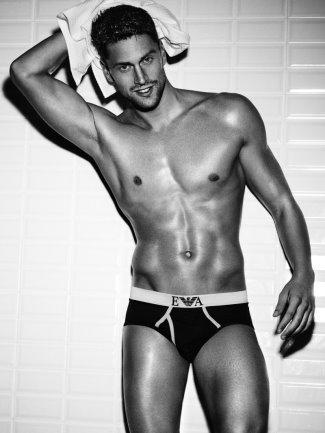 celebrity emporio armani underwear model - luca dotto