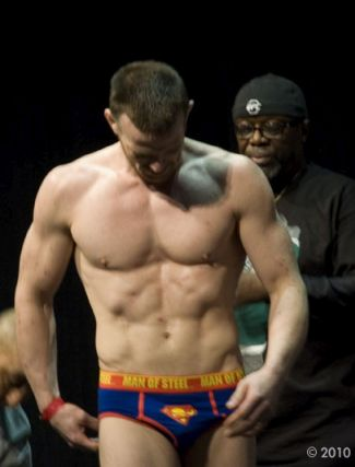 celebrity superman underwear - athlete Dennis Hallman mma fighter