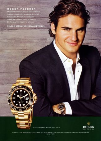 federer rolex watch - oyster perpetual gmt master ii
