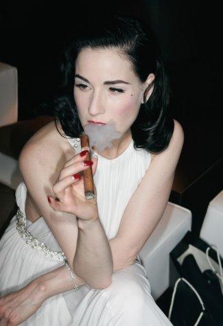 hot girls smoking cigars - dita von teese
