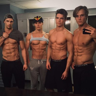 hot guys locker room selfies - Christian Hogue - Austin Scoggin - Braeden Wright - Trevor Van Uden