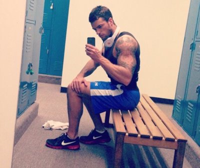 hot guys locker room selfies - marc fitt