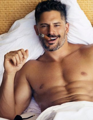 hot guys smoking cigars - Joe Manganiello2