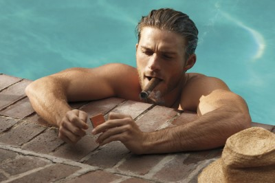 hot guys smoking cigars - scott eastwood