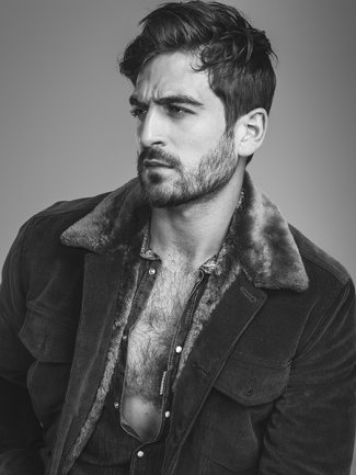 men hairy chest - jacob burton for paper mag by rodolfo martinez