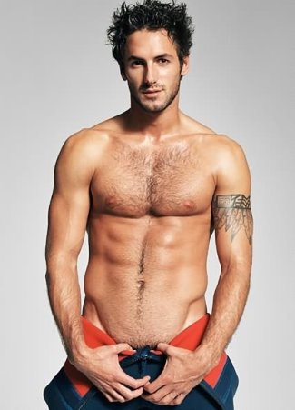 hot men with hairy chest - josh wald