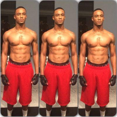 jessie t usher shirtless gym body