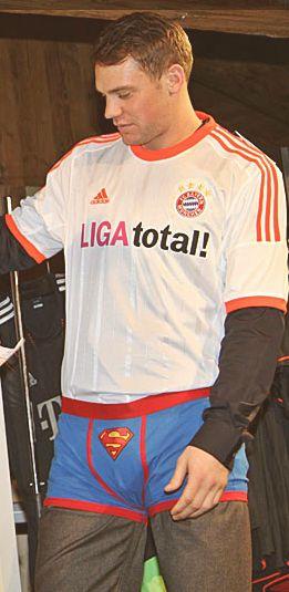 mens superman underwear - football athlete Manuel Neuer