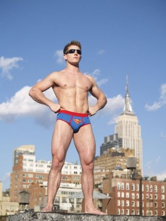mens superman underwear - male model scott herman