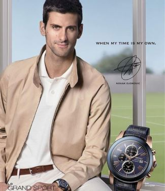 novak djokovic seiko watch - solar chronograph
