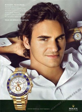 roger federer rolex watch - oyster perpetual yachtmaster ii