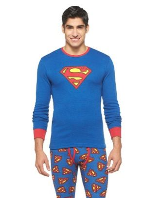 superman longjohns thermal underwear - target - nla