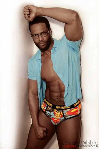 superman underwear men - black male model