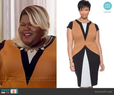 Gabourey Sidibe empire becky dress - eloquii-maggi-colorblock-dress-becky-empire