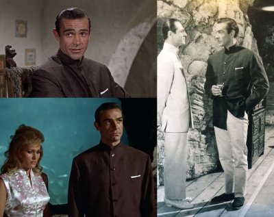 nehru jacket style guide - james bond nehru jacket - sean connery joseph wiseman and ursula andress