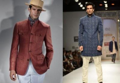 best mens nehru jackets - male models on runway2