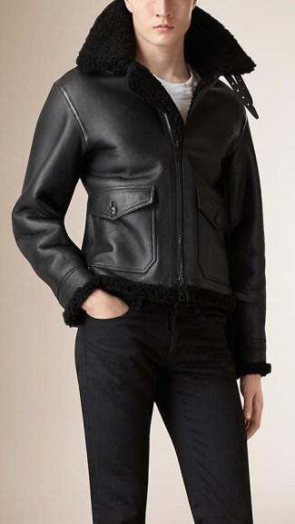 best mens winter jackets 2015-2016 - burberry shearling2