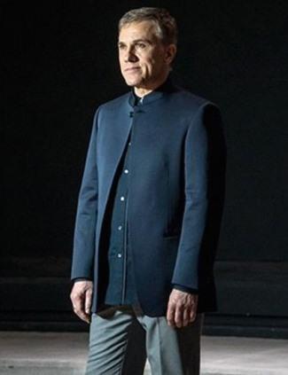 best nehru jackets in hollywood - Christoph Waltz - Hans Oberhauser in james bond spectre22