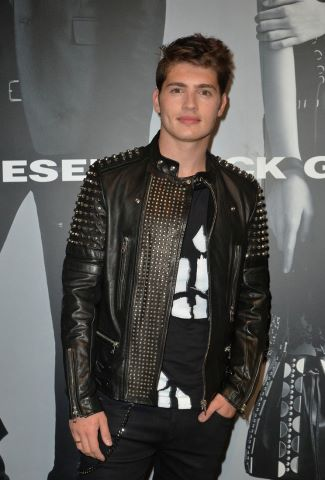 boys in leather jackets - gregg sulkin in diesel leather