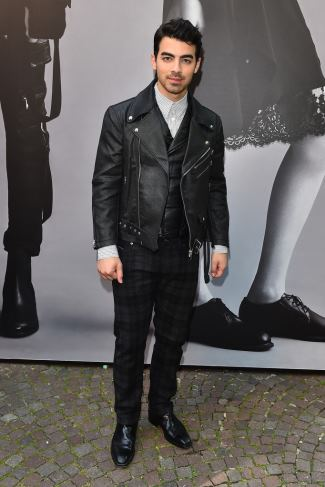 boys in leather jackets - joe jonas - diesel black gold