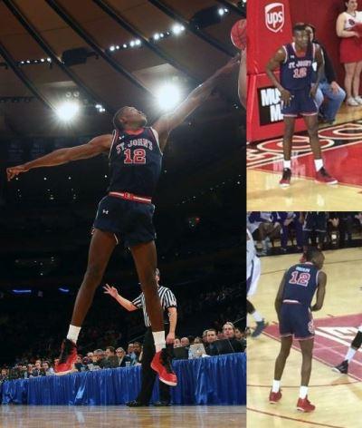 college basketball shorts - st johns university - chris obekpa6