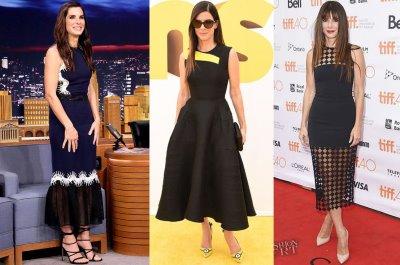 dresses for older women 2016 - sandra bullock fashion style