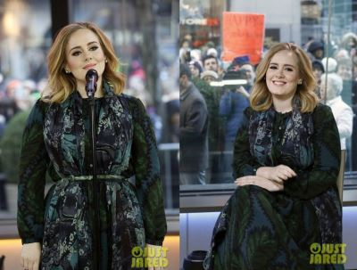 full figured dress 2016 - adele at today show3