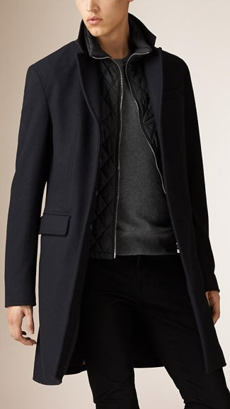 general hux coat alternative - burberry wool cashmere melton coat
