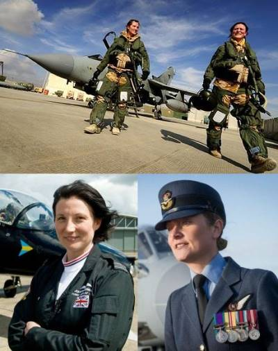 hot female pilots - first all-female Tornado jet crew- jules flaming and nikki thomas2