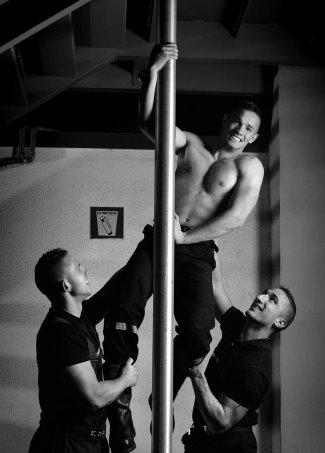 hot fireman calendar - real shirtless model