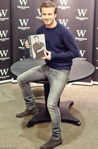 men in tight jeans - beckham