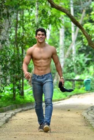 men in tight jeans - male model2