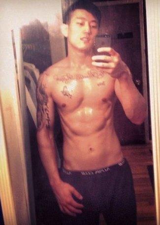 jake choi underwear selfie