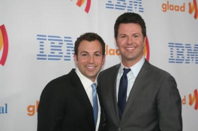 ron corning boyfriend anthony wilkinson - glaad media award2