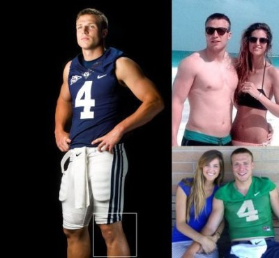 shirtless taysom hill - hot byu quarterback